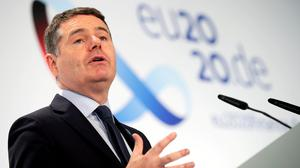 Finance Minister Paschal Donohoe has said there will be no 'cliff edges' as wage supports are wound down. Photo: Reuters/Hannibal Hanschke