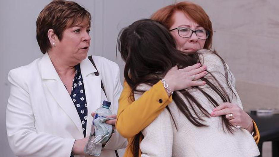 Rita Bonner as the Ballymurphy families arrive at the ICC Waterfront Hall in Belfast on May 11, 2020 (Photo by Kevin Scott for Belfast Telegraph)