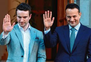 Leo Varadkar and his partner Matt Barrett