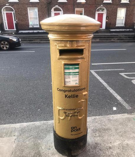 The post box outside Summerhill Post Office. Photo: An Post.