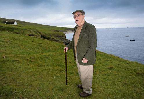 Mike Carney returns to the place of his birth, the Great Blasket, off the Kerry coast