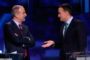 'Big Two': Fianna Fáil's Micheál Martin and Fine Gael's Leo Varadkar during a debate ahead of last month's general election