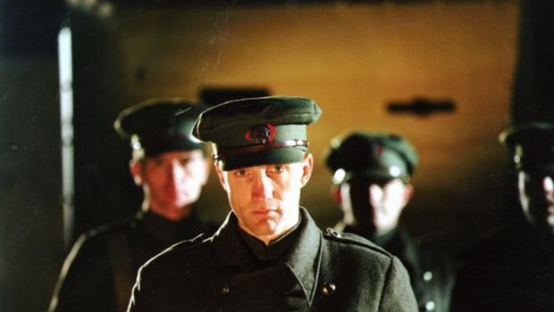 Tragedy: Michael McElhatton as an Irish Free State soldier in a scene from the 1997 RTÉ Television drama-documentary Ballyseedy about the 1923 massacre