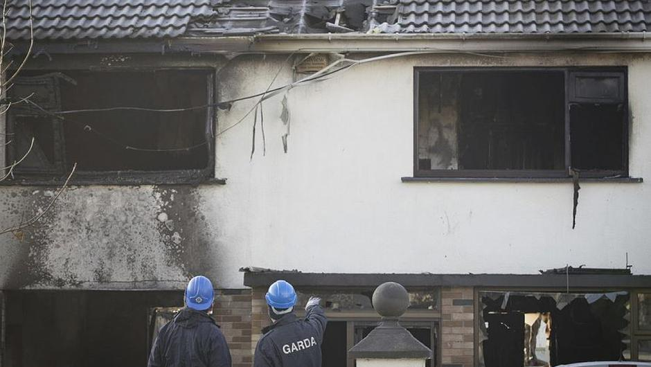 Gardai are investigating the circumstances of the death of two people following a fire at a house in Beach Park, Portmarnock Picture: Arthur Carron