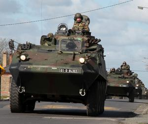 Defence Forces troops on a training exercise