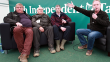 Paul Williams (right) with Robert O'Shea (Littleton), Paul Lynch (Mountmellick) and John Tully (Two-Mile Borris) during the Irish Independent debate on rural crime Photo: Frank McGrath