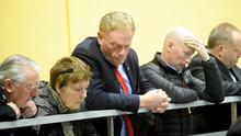 Fine Gael's James Brannon at the Longford-Westmeath recount. Photo: James Flynn