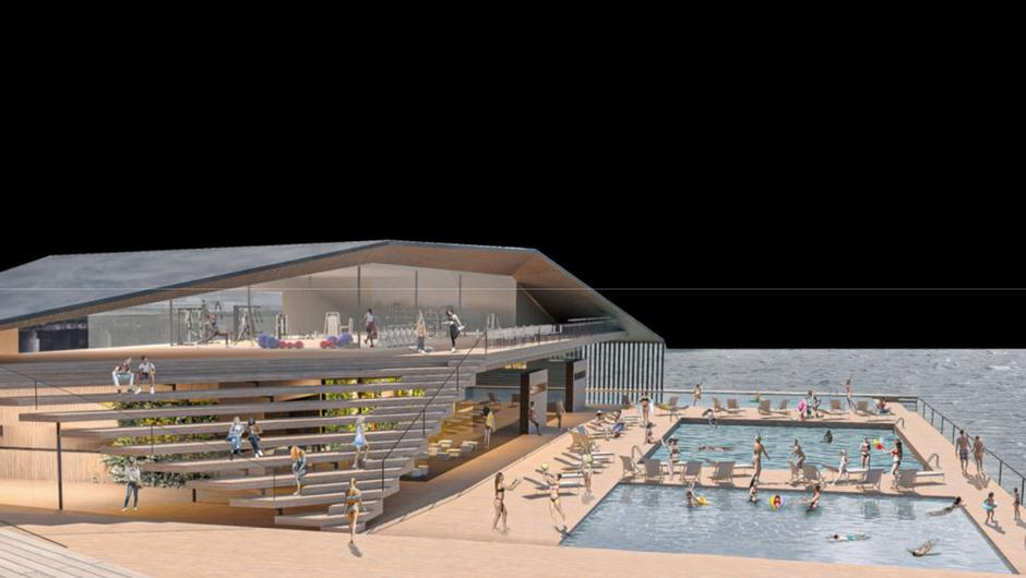 The proposed outdoor swimming pool development in Dublin is viewed by some as more beneficial to the city than a white-water rafting facility.