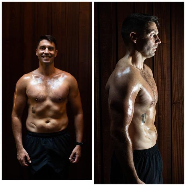 At the end of his 50-day training plan, Ian had visibly shed fat and gained lean muscle