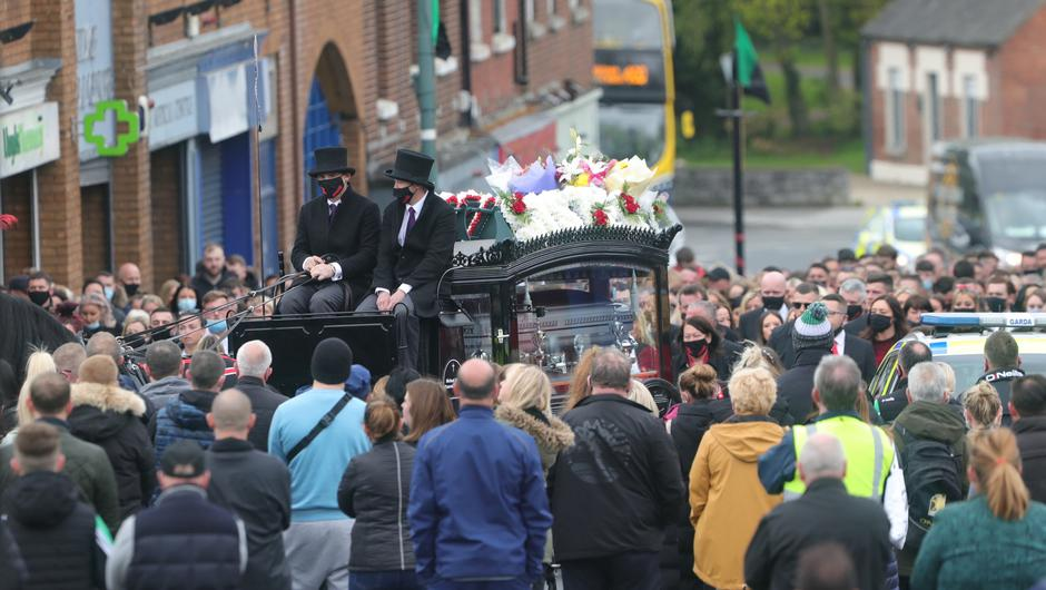 The funeral of Jennifer (Jennie) Poole at Saint Canice's Church, Finglas Village Dublin this morning. Picture Colin Keegan, Collins Dublin