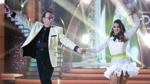 Double act: Fr Ray Kelly performing on 'Dancing with the Stars' with his partner Kylee Vincent. Photo: Kyran O'Brien