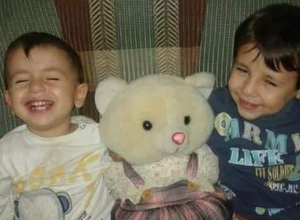 Aylan Kurdi (left) and his older brother Galip - the two young boys were among those who drowned off the Bodrum coast