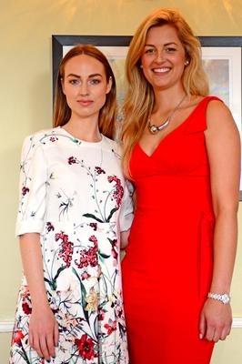 Daniella Moyles with Melanie Young at the launch of the 10th anniversary Tattersalls International Horse Trials and Country Fair. Photo: Pat Healy