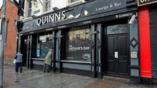 Quinn's pub in Drumcondra: closed after for two days after a dead rat and sewage were found on the cellar floor