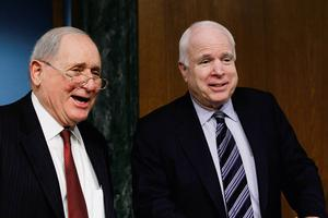 Chairman of the Senate homeland security and governmental affairs investigations subcommittee Carl Levin (D-MI) and ranking member John McCain