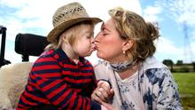 Frustrated: Aisling McNiffe, with son Jack, says people with Down syndrome face long waits for arthritis tests. Photo: Gerry Mooney