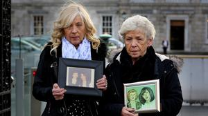 The late Christine Keegan, who lost two daughters, Mary and Martina, in the Stardust tragedy. Christine was pictured here with her daughter Antoinette