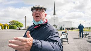 Michael O'Halloran, Fermoy, Co Cork, at Knock Shrine, Co. Mayo. Photo: Keith Heneghan