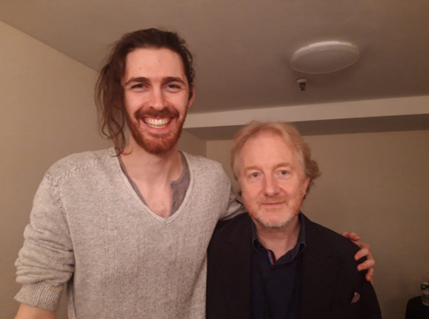 He's a big guy and no mistake. Hozier towers over Barry