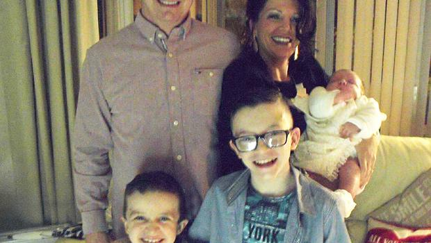 Sean McGrotty and his partner Louise James, with children Mark (12), Evan (8), and baby Rioghnach-Ann
