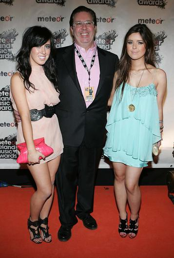 Gerry Ryan with daughters with Bonnie and Lottie. Photo: Brian McEvoy