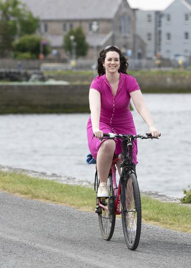 Pedal power: Martina Callanan, who runs the Galway Cycling Campaign, says retailers have nothing to fear from a rise in the number of cyclists. Photo by Andrew Downes