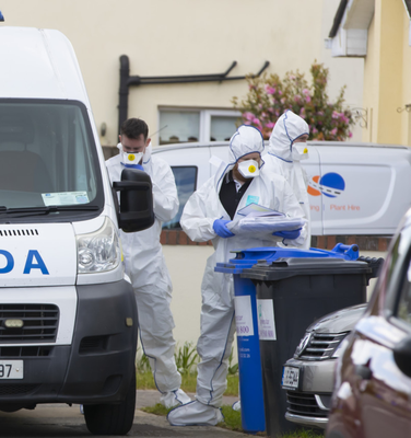 Forensic examination: Gardaí at the scene in Enniscorthy. Picture: Patrick Browne