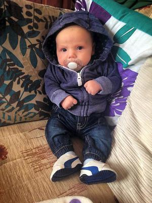 William Halligan, three months, was in the house during the petrol bomb attack on the Halligan home in Ardmore Park, Waterford. Photo: Caroline Quinn