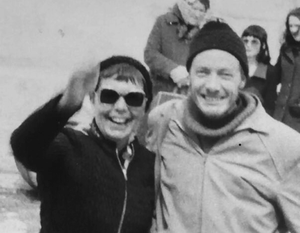 Tim and Mairead on the Aran Islands in 1973