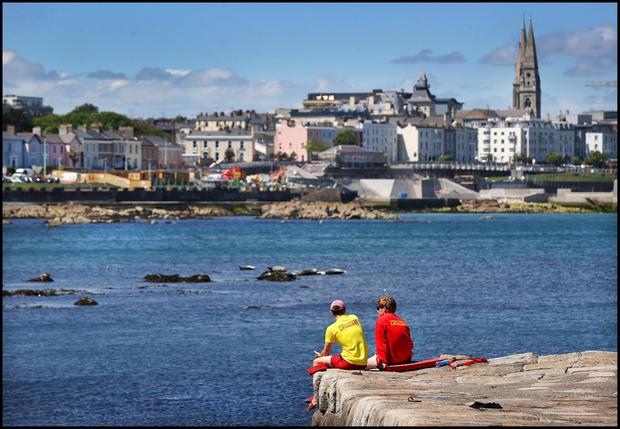 Lifeguards at Sandycove, which is in Dún Laoghaire-Rathdown