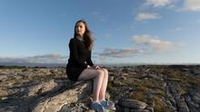 Youth activist Aine Dempsey in The Burren, Co Clare. Photo: Eamon Ward