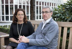 Susanna and Christopher Cawley, sister and brother of murdered woman Celine Cawley.