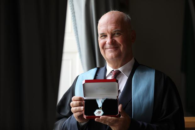 Dr Tony Holohan receives an Honorary Fellowship from the RCSI. Photo: Julien Behal
