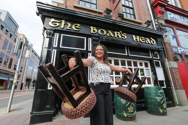 All set for reopening day at The Boar's Head on Capel Street Picture: Gerry Mooney