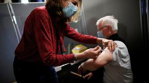Vaccine: Speciality syringes eke out a sixth shot from five-dose glass vials. Photo: Benoit Tessier/ Reuters