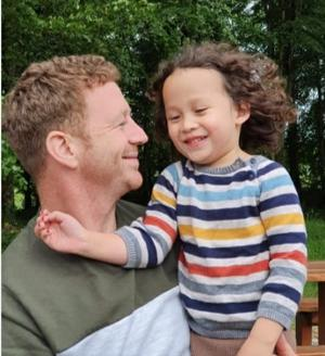 Loss: Paul Carey, who died on November 6, pictured here with his son Fíonn (5). The father was relocating to his native Limerick when tragedy struck.