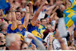 Tipperary supporters, in the Cuasck Stand
