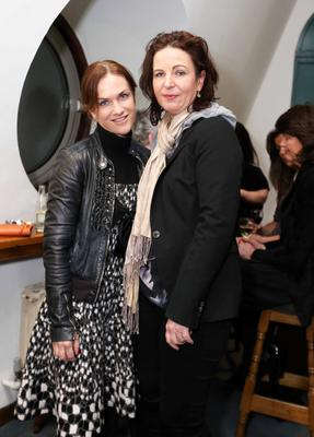 Rhona Mahony and Caroline O'Riordan at the opening of Wuthering Heights.