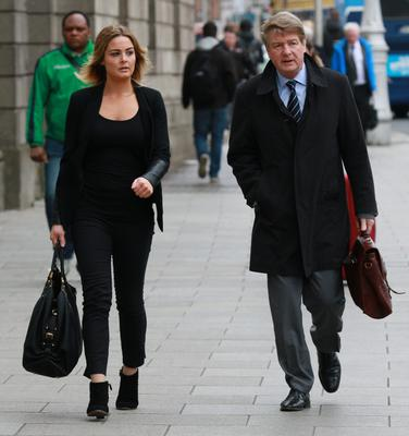 Solicitor Brian O'Donnell and his daughter Blaise outside the Court of Appeal in Dublin yesterday