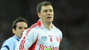 Enda McGInley in action for Tyrone in the '00s. 'It's going to be a challenge to beat Kerry,' he says. Photo: Ray McManus/Sporstfile