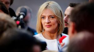 DISAPPOINTMENT: Liadh Ni Riada at the national count centre in Dublin Castle yesterday. Photo: Gerry Mooney