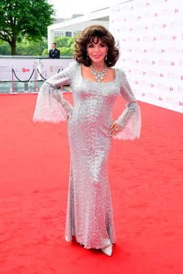 Joan Collins at the Bafta ceremony in London. Photo: PA