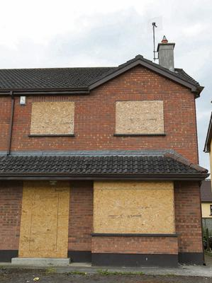 The derelict house in Longford where three young boys found a loaded shot gun