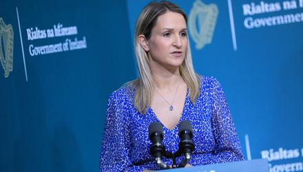 Justice Minister Helen McEntee was sent footage of 'session'