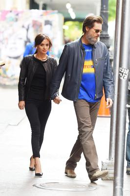 Jim Carrey and his girlfriend Cathriona White