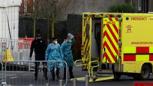 Paramedics at the Mater Hospital in Dublin. Photo: Brian Lawless/PA Wire