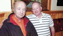 Murdered: Brothers Willie and Paddy Hennessey from Corragorm, near Mitchelstown, Co Cork,pictured in 2009