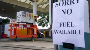 A Shell petrol station in Bracknell, Berkshire, which has no fuel. PA