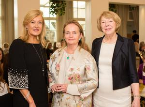 Louise Kennedy, Loretta Brennan Glucksman and Sabina Higgins at the inaugural Tiffany Ireland Funds Lunch to honour inspiring women. Photo: Anthony Woods.
