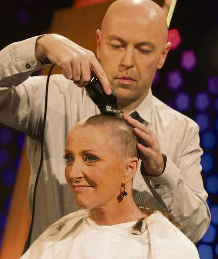 Majella O'Donnell has her head shaved on TV